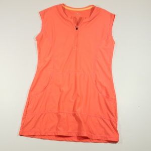 Athleta womens orange sleeveless pull over top sm